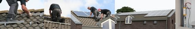 Monteren van zonnepanelen door Technisch Buro F. Oosting V.O.F.